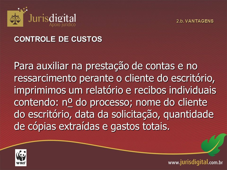 2.b. VANTAGENS CONTROLE DE CUSTOS.