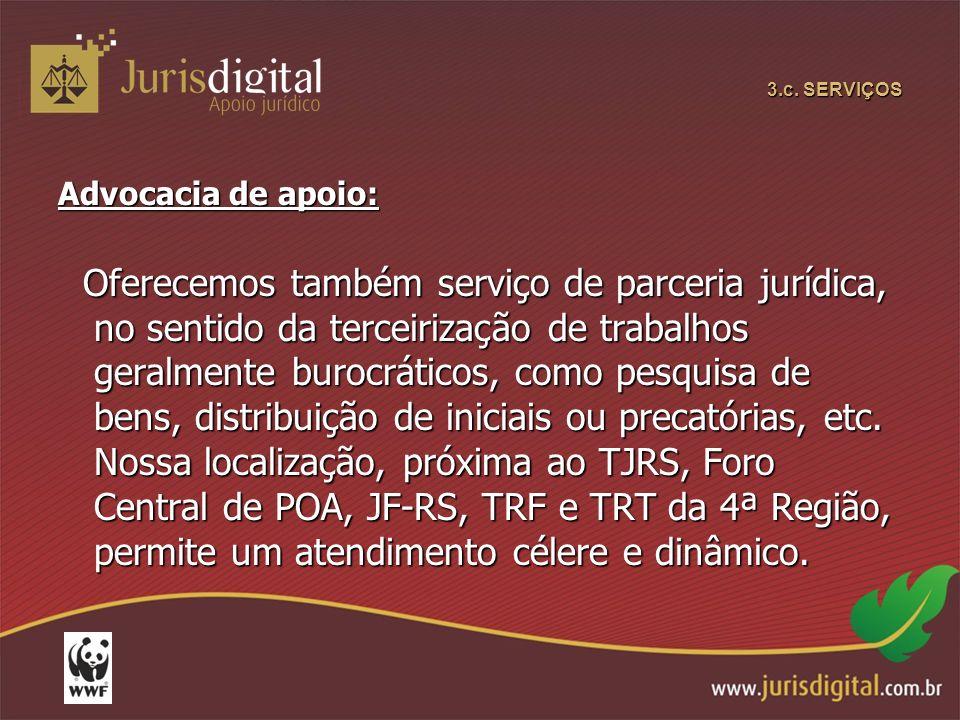 3.c. SERVIÇOS Advocacia de apoio: