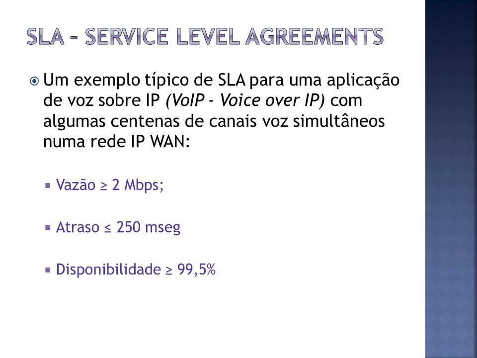 SLA – Service level agreements