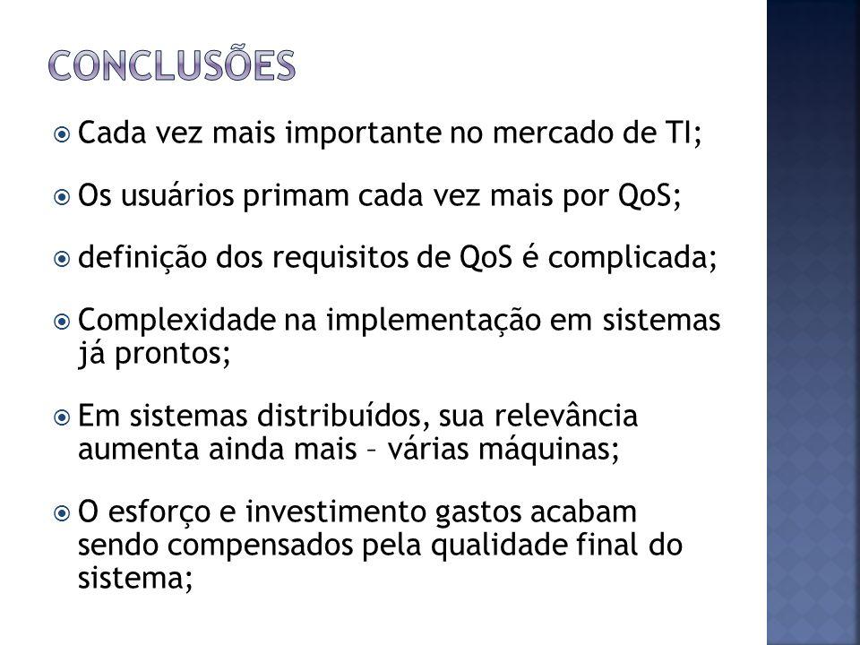 Conclusões Cada vez mais importante no mercado de TI;
