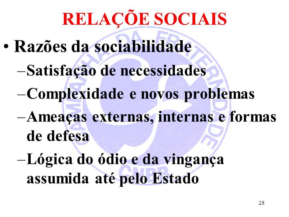 Razões da sociabilidade