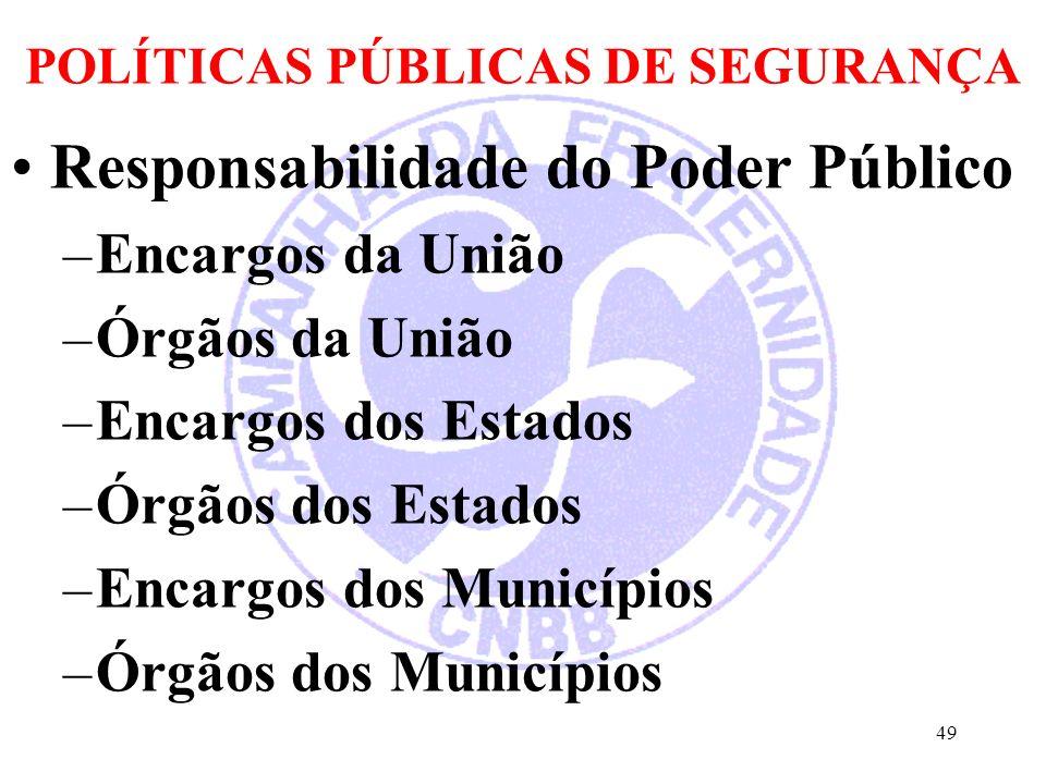 POLÍTICAS PÚBLICAS DE SEGURANÇA