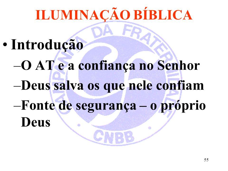 Introdução ILUMINAÇÃO BÍBLICA O AT e a confiança no Senhor