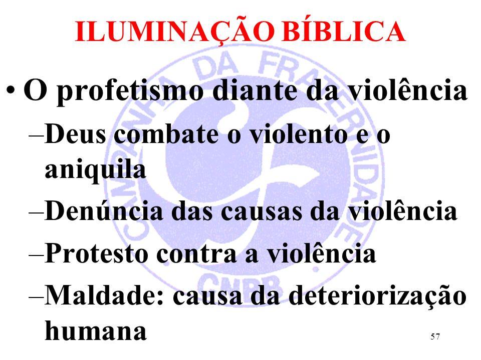 O profetismo diante da violência