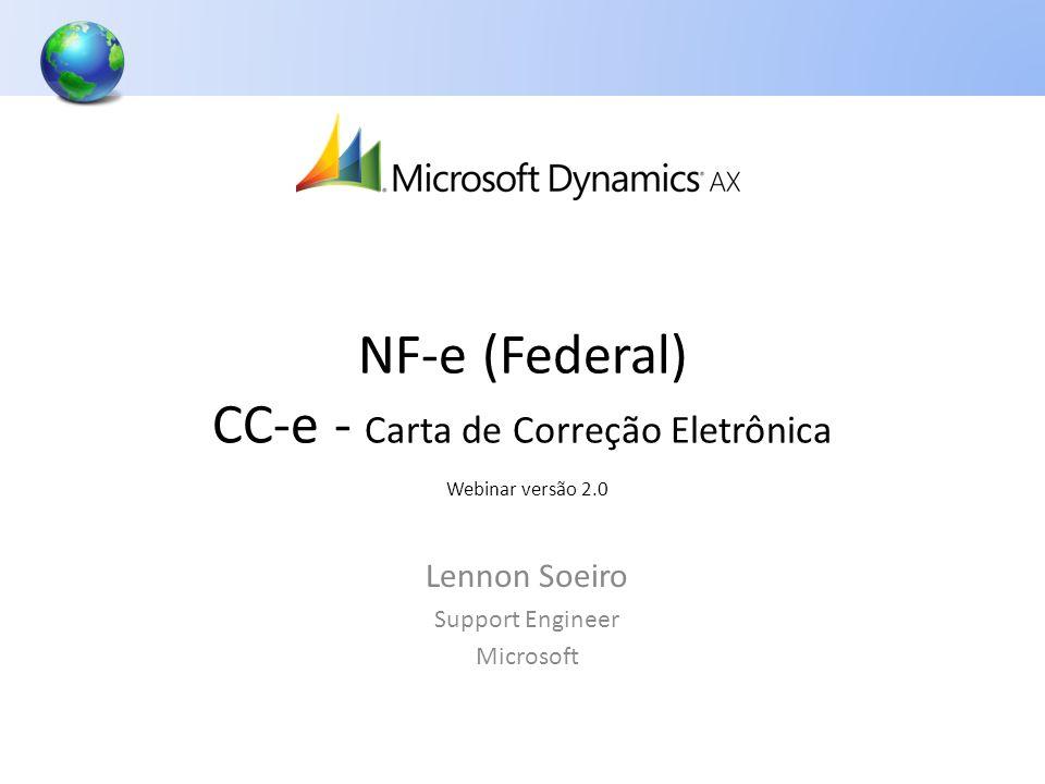 NF-e (Federal) CC-e - Carta de Correção Eletrônica Webinar versão 2.0