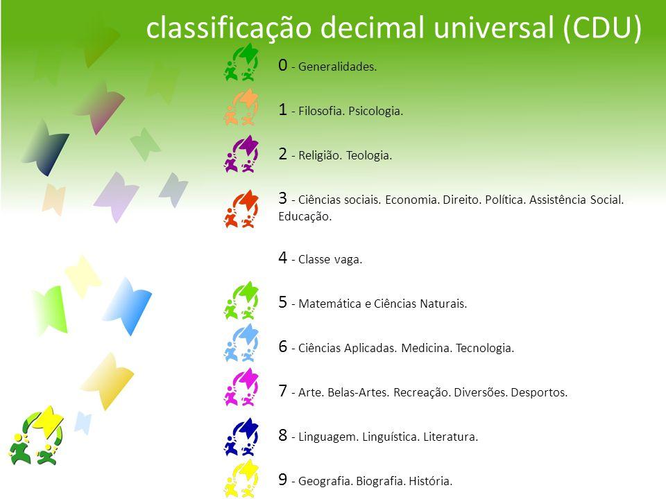 classificação decimal universal (CDU)