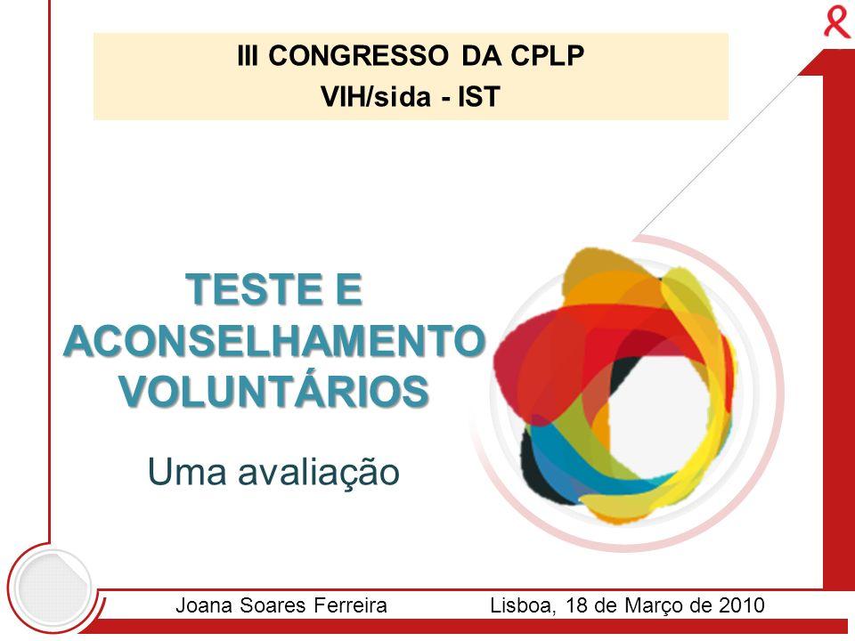 TESTE E ACONSELHAMENTO VOLUNTÁRIOS