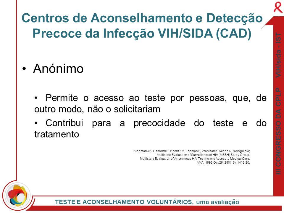 Centros de Aconselhamento e Detecção Precoce da Infecção VIH/SIDA (CAD)