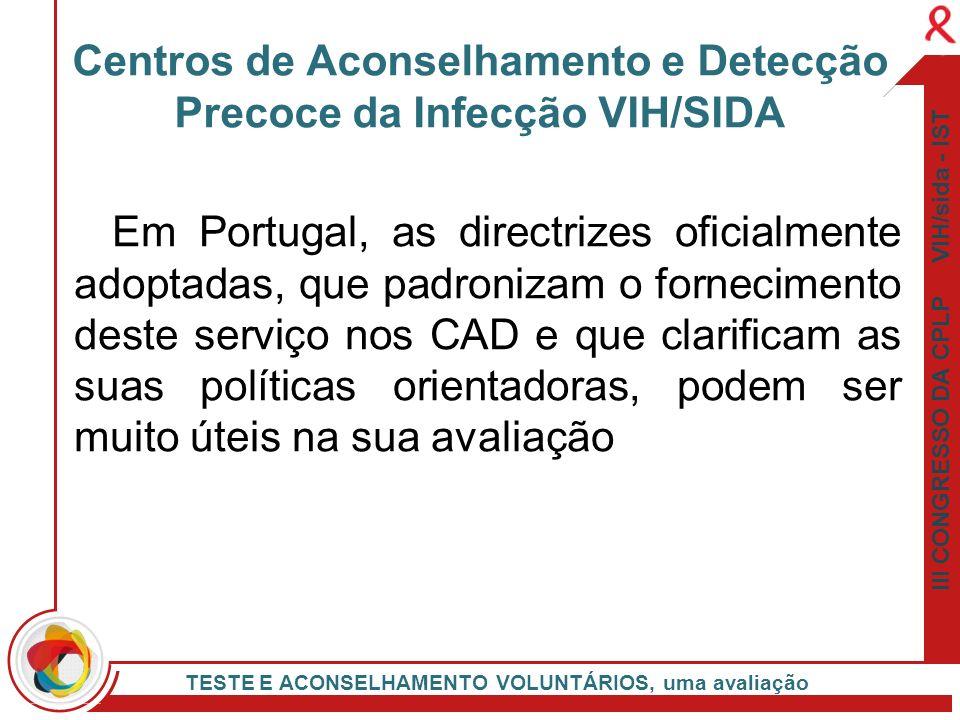 Centros de Aconselhamento e Detecção Precoce da Infecção VIH/SIDA