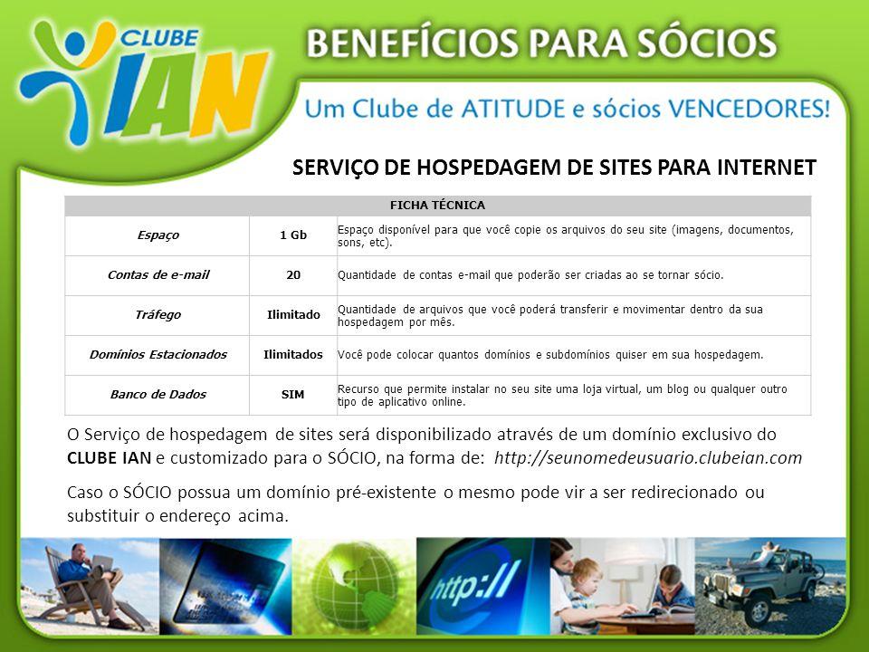 SERVIÇO DE HOSPEDAGEM DE SITES PARA INTERNET Domínios Estacionados