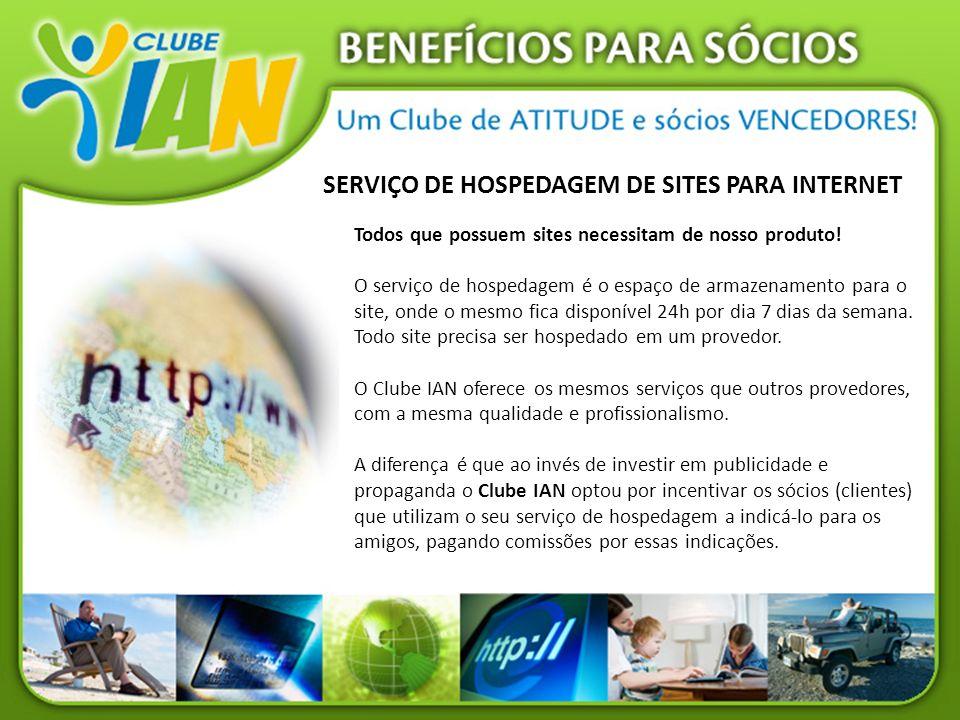 SERVIÇO DE HOSPEDAGEM DE SITES PARA INTERNET