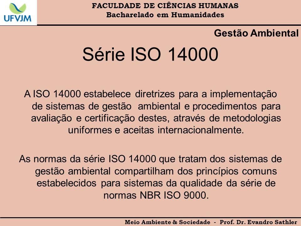 Série ISO 14000 Gestão Ambiental