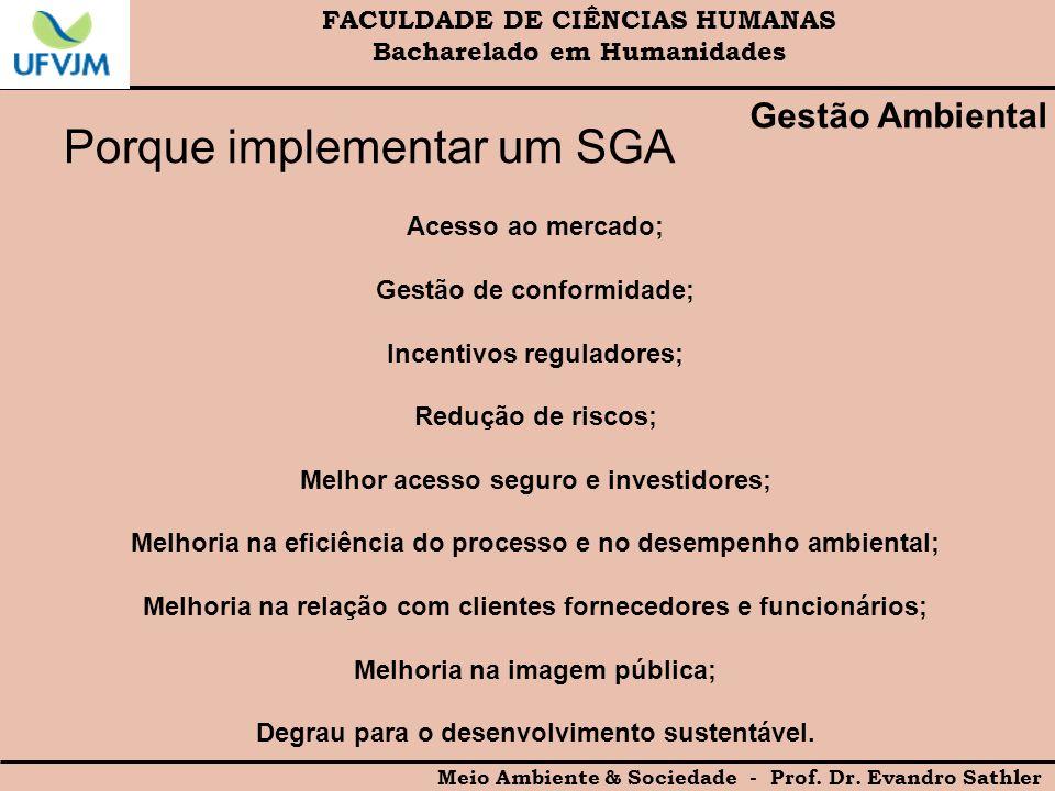 Porque implementar um SGA