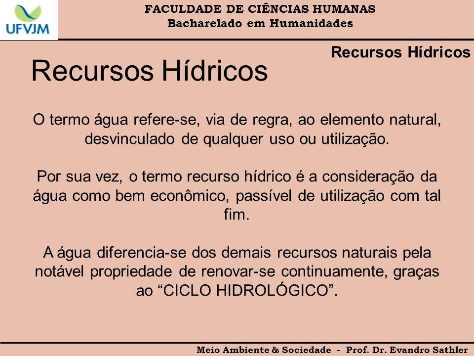 Recursos Hídricos Recursos Hídricos