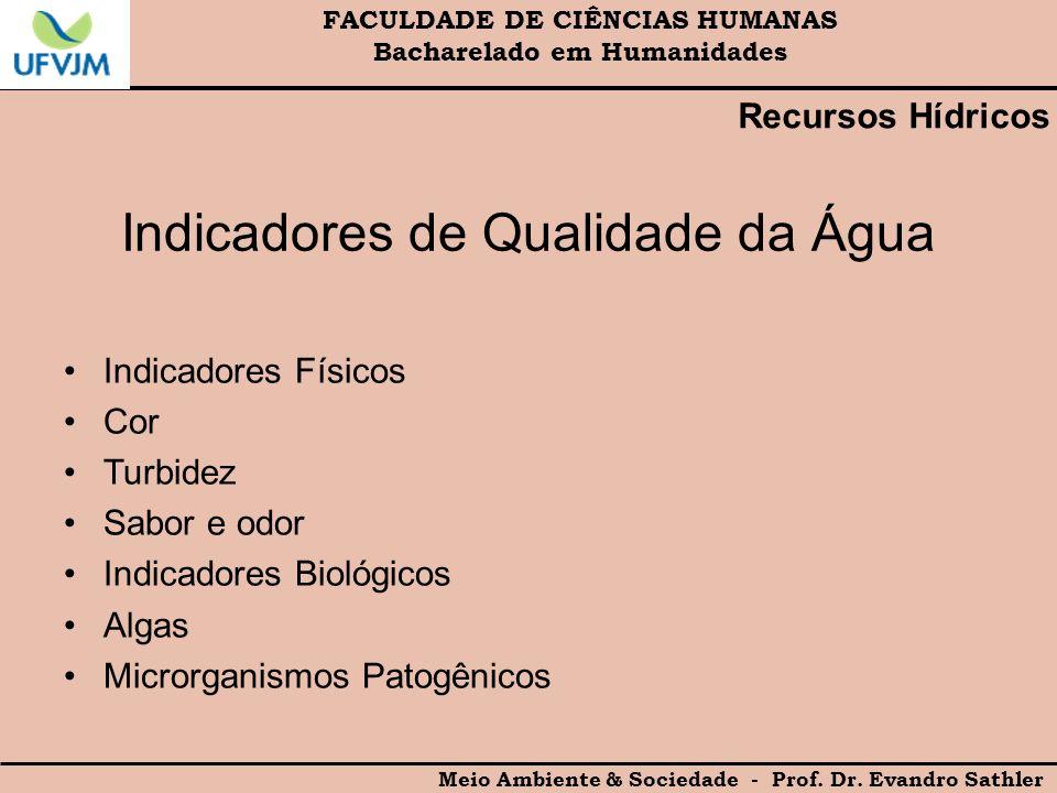 Indicadores de Qualidade da Água