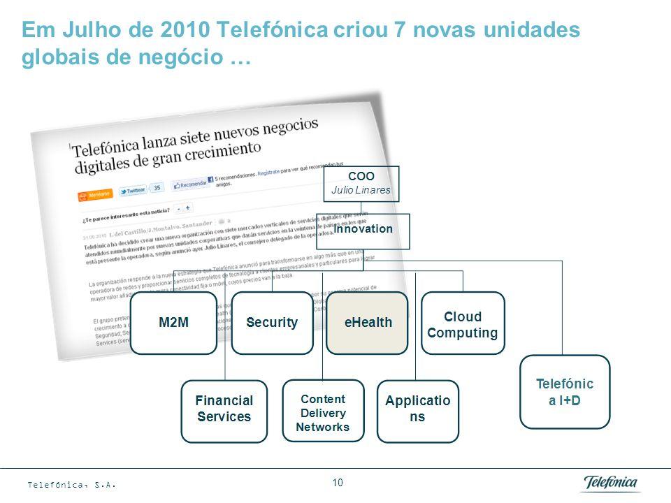 … uma delas enfocada para o desenvolvimento de eHealth, sendo Brasil um mercado principal