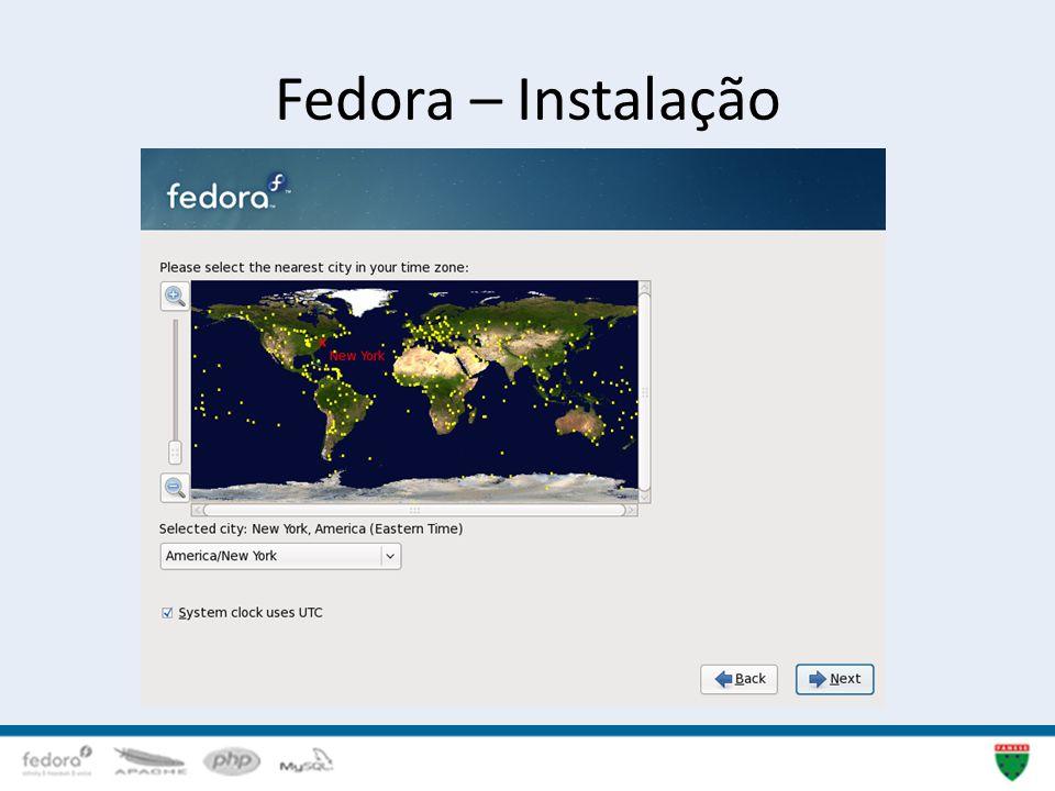 Fedora – Instalação