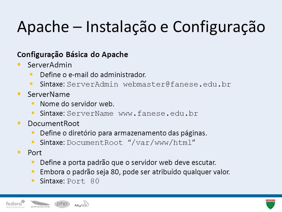 Apache – Instalação e Configuração