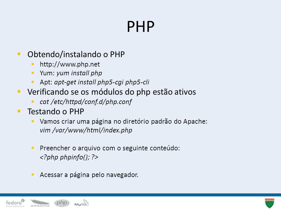 PHP Obtendo/instalando o PHP