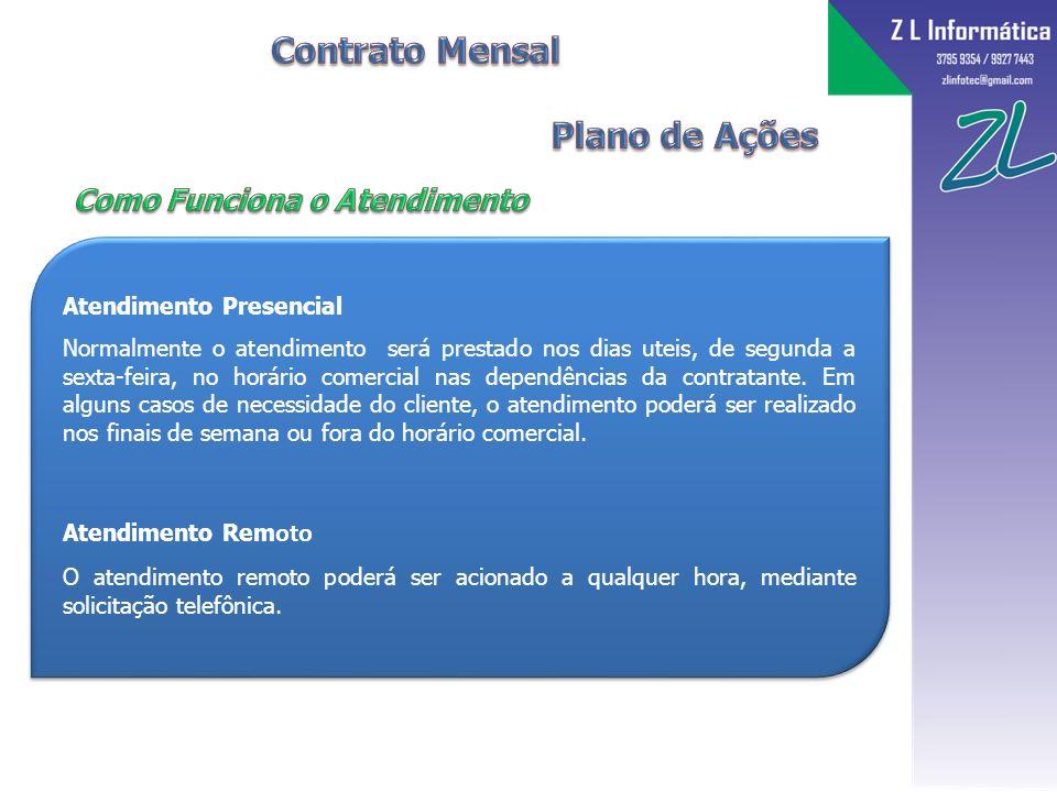Contrato Mensal Plano de Ações Como Funciona o Atendimento