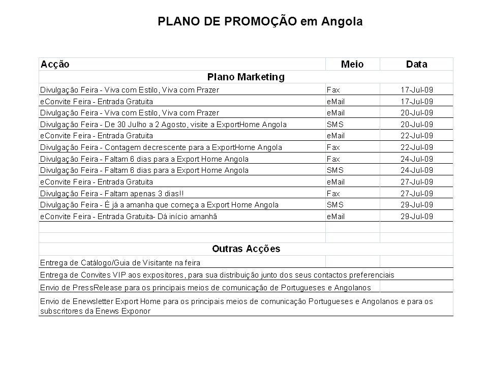 PLANO DE PROMOÇÃO em Angola