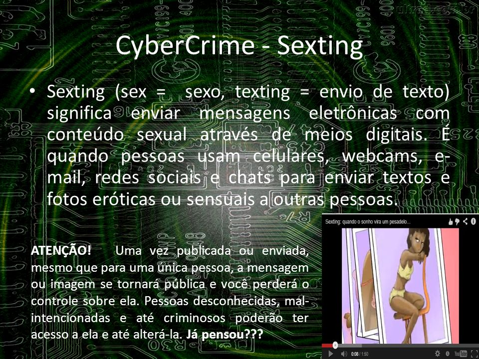CyberCrime - Sexting