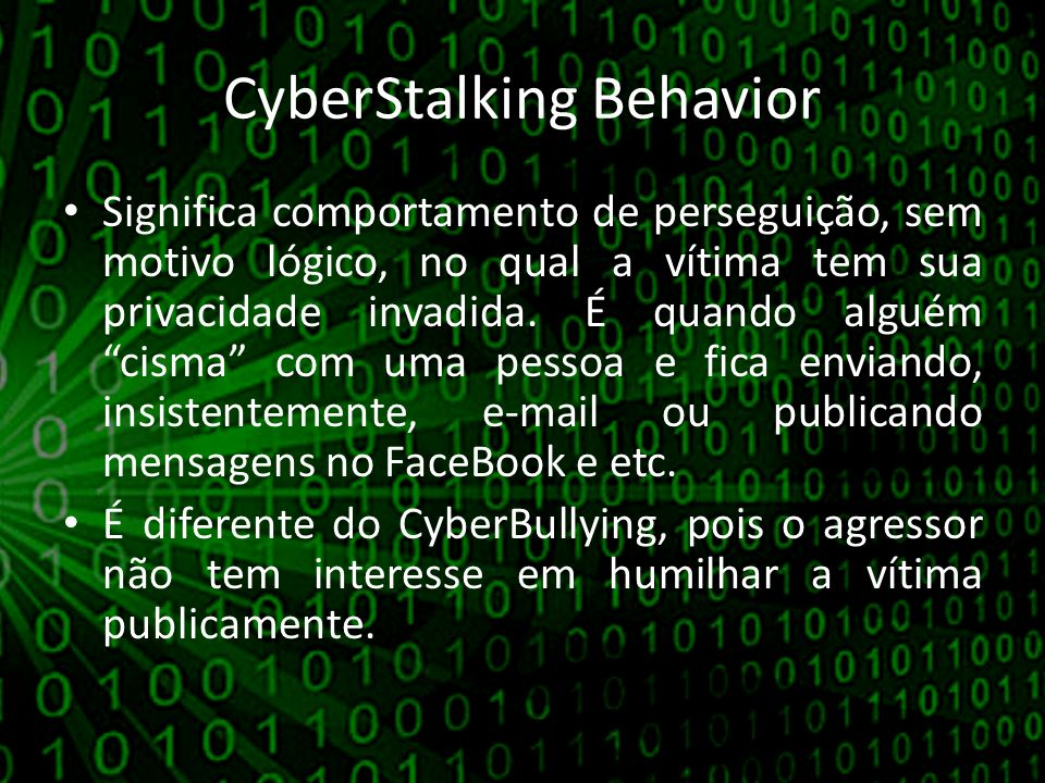 CyberStalking Behavior