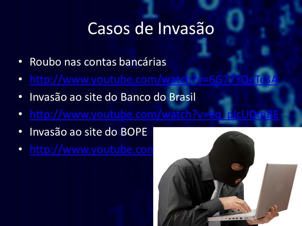 Casos de Invasão Roubo nas contas bancárias