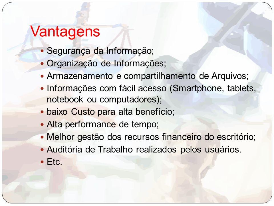Vantagens Segurança da Informação; Organização de Informações;