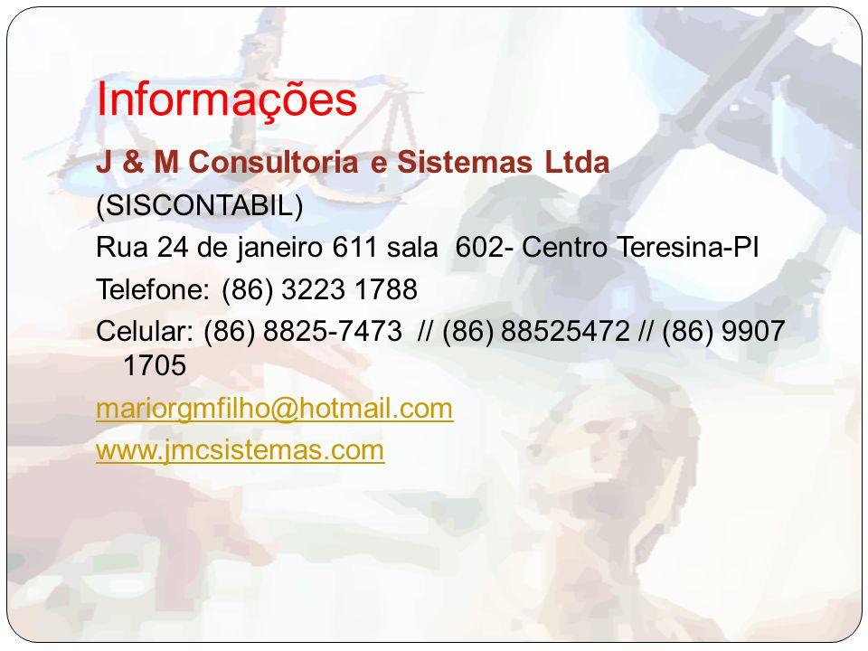 Informações J & M Consultoria e Sistemas Ltda (SISCONTABIL)