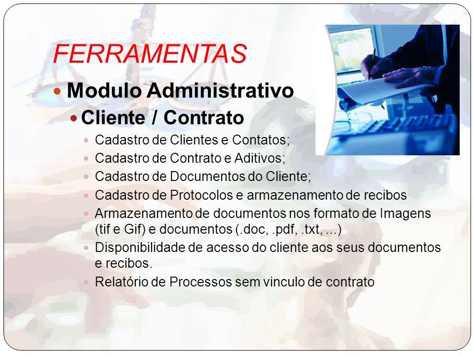 FERRAMENTAS Modulo Administrativo Cliente / Contrato