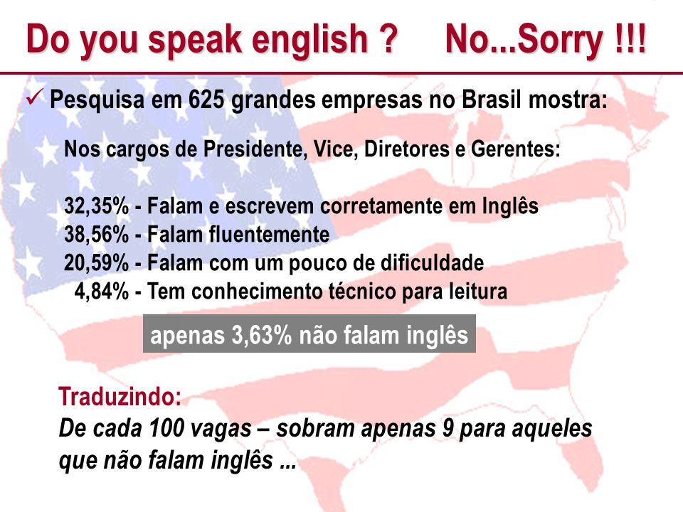 apenas 3,63% não falam inglês