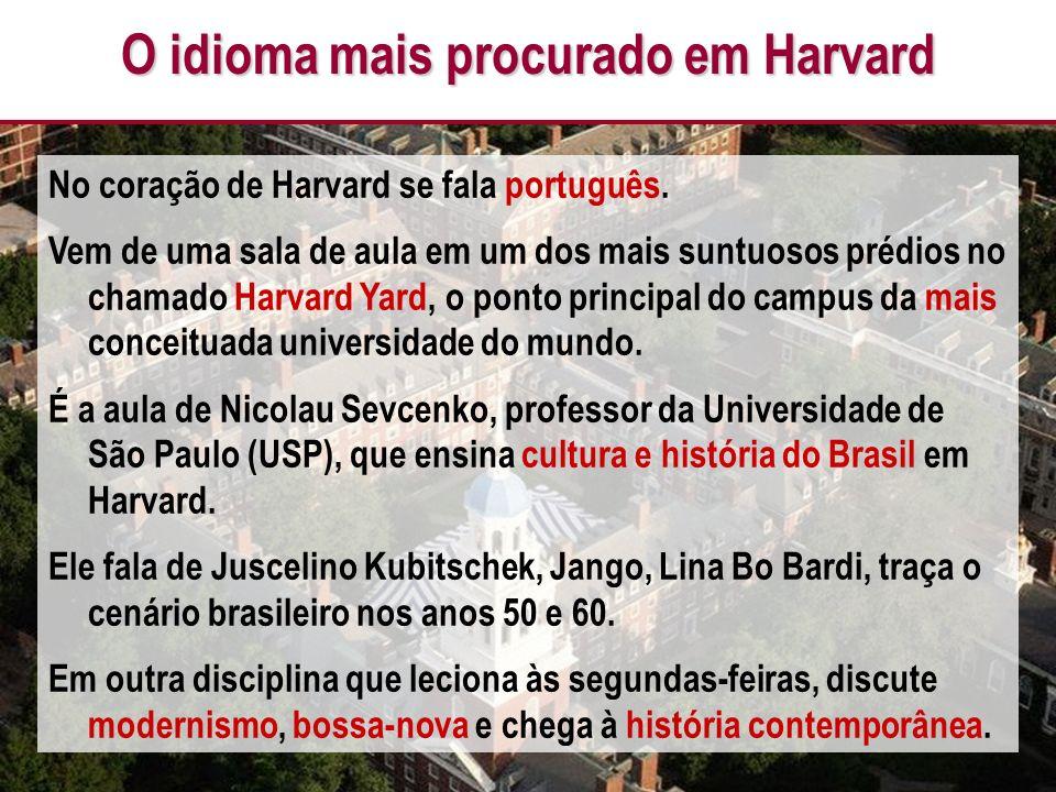 O idioma mais procurado em Harvard