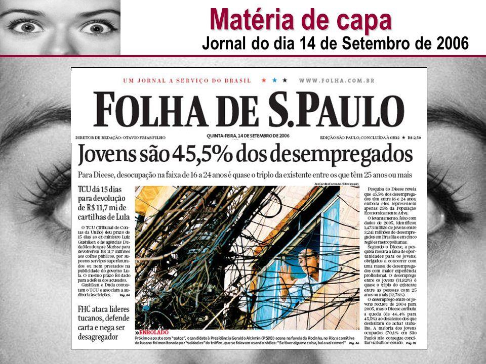 Matéria de capa Jornal do dia 14 de Setembro de 2006