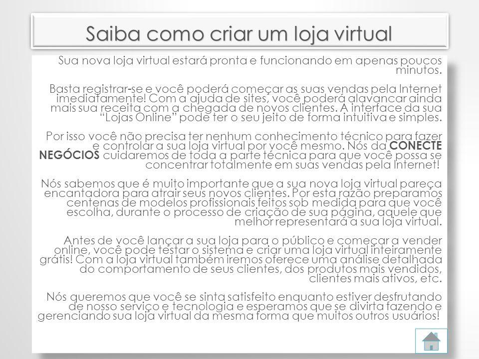 Saiba como criar um loja virtual