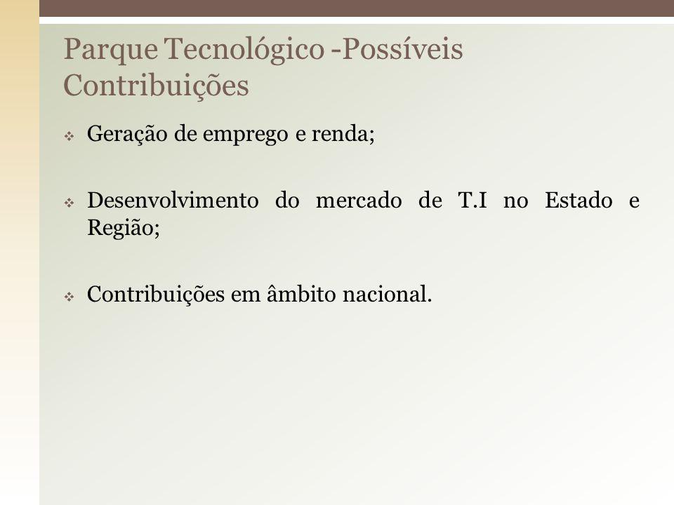 Parque Tecnológico -Possíveis Contribuições