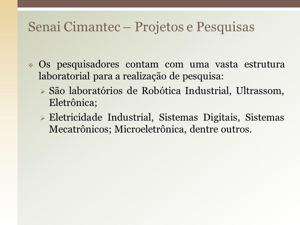 Senai Cimantec – Projetos e Pesquisas