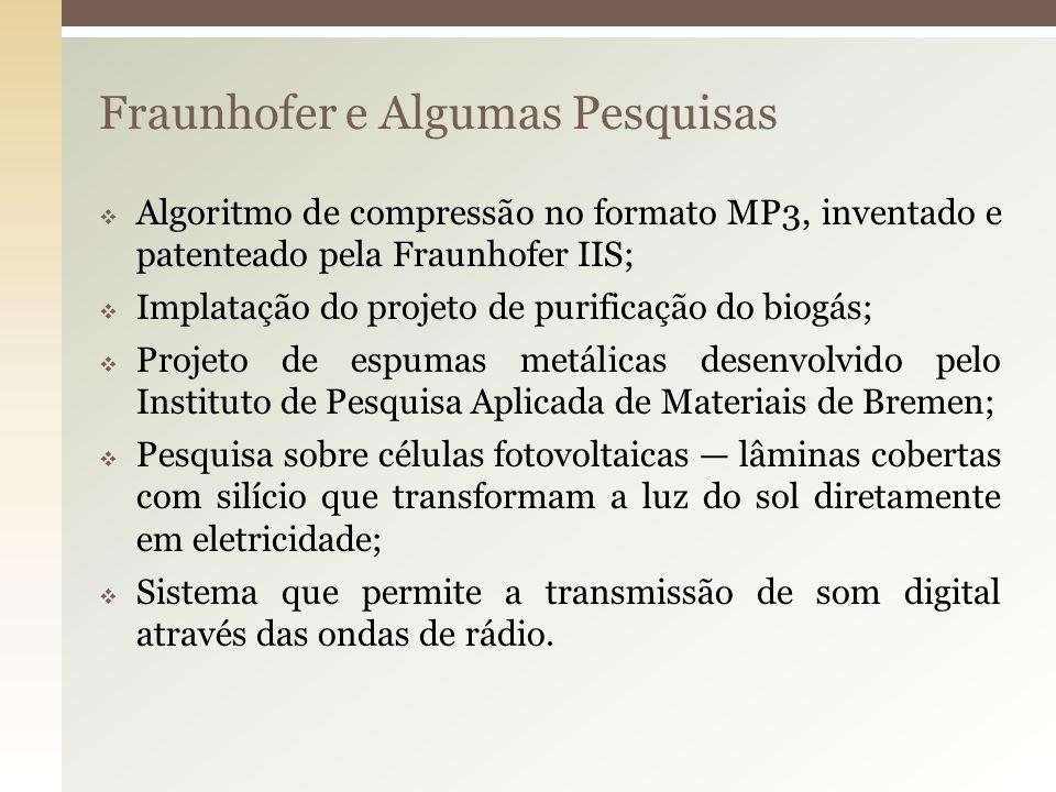 Fraunhofer e Algumas Pesquisas