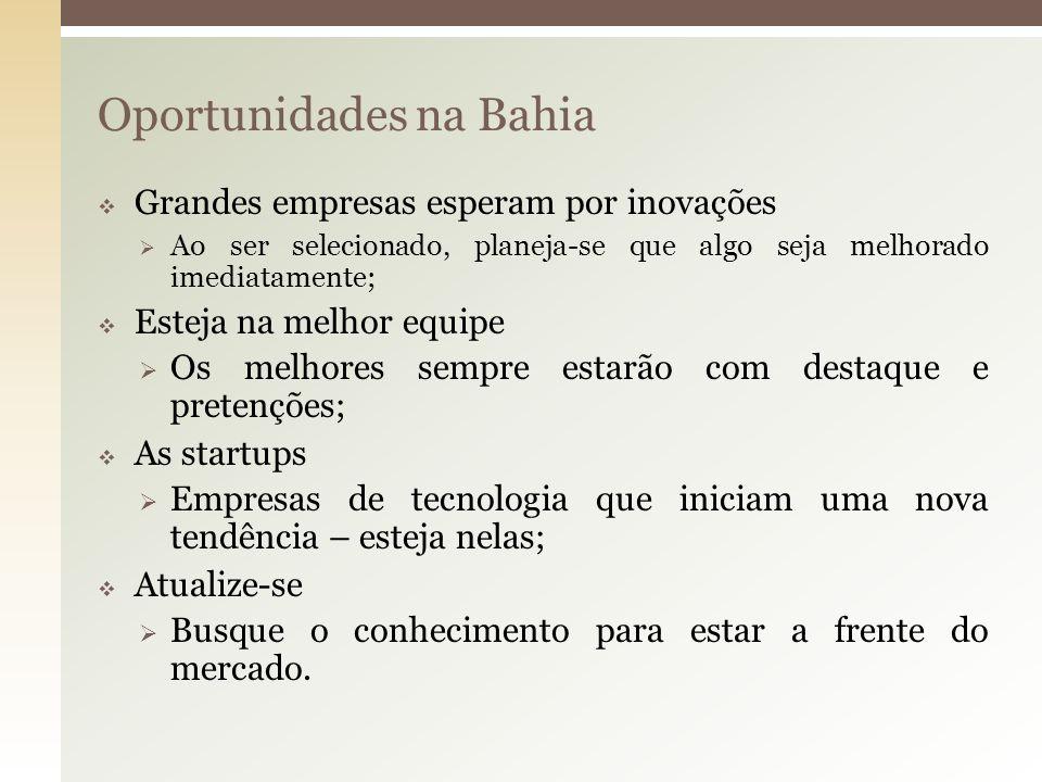 Oportunidades na Bahia
