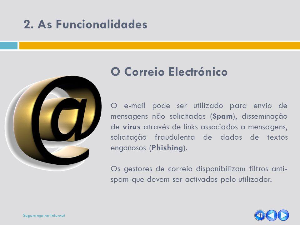 2. As Funcionalidades O Correio Electrónico