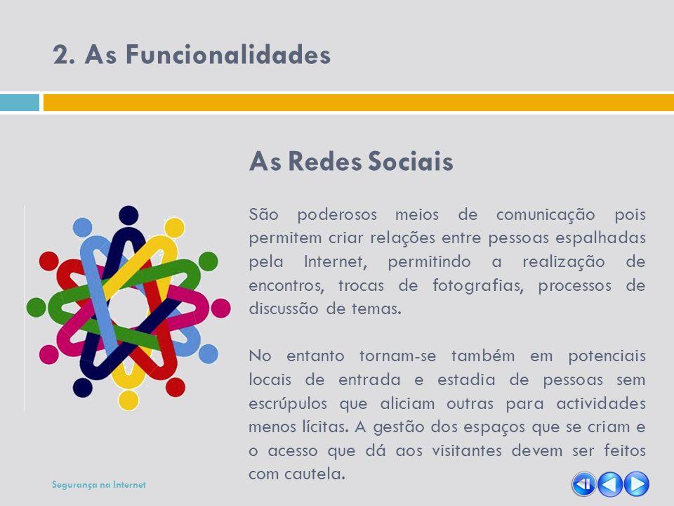 2. As Funcionalidades As Redes Sociais