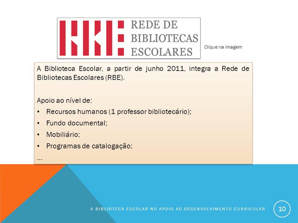 Recursos humanos (1 professor bibliotecário); Fundo documental;