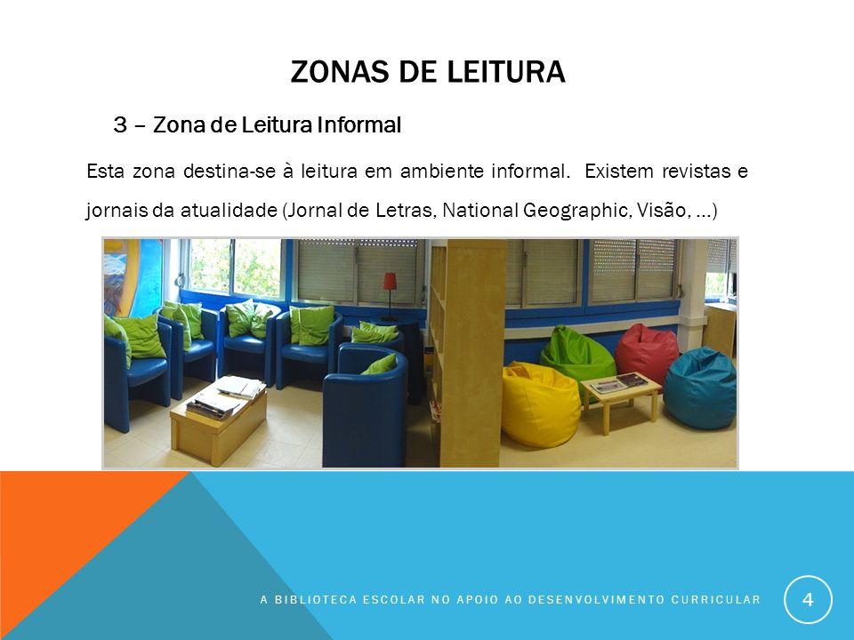 Zonas de leitura 3 – Zona de Leitura Informal