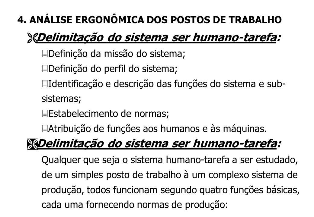 Delimitação do sistema ser humano-tarefa:
