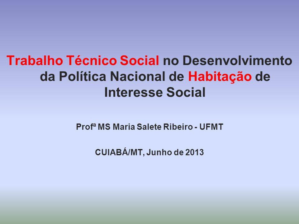 Profª MS Maria Salete Ribeiro - UFMT