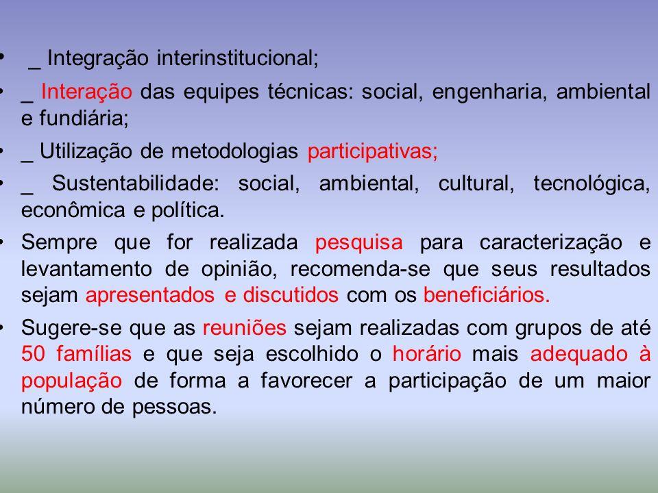 _ Integração interinstitucional;