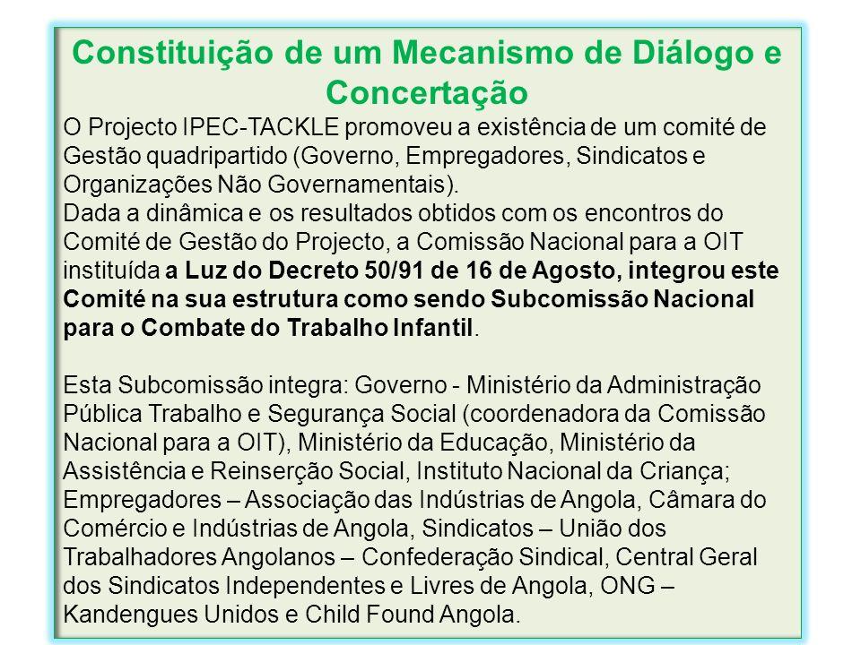 Constituição de um Mecanismo de Diálogo e Concertação