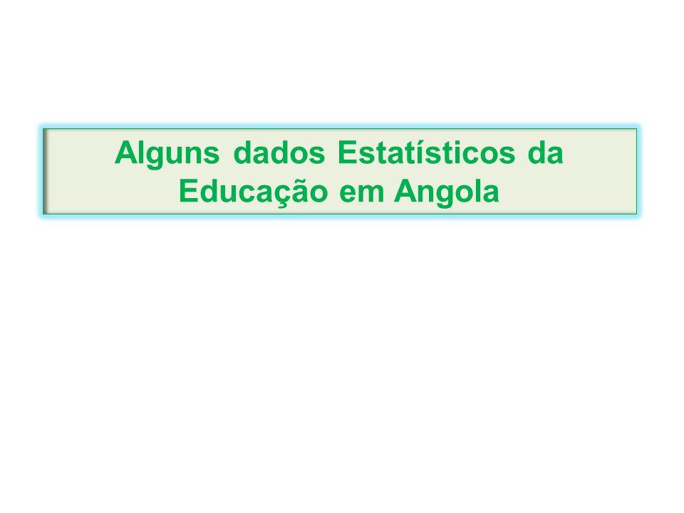 Alguns dados Estatísticos da Educação em Angola