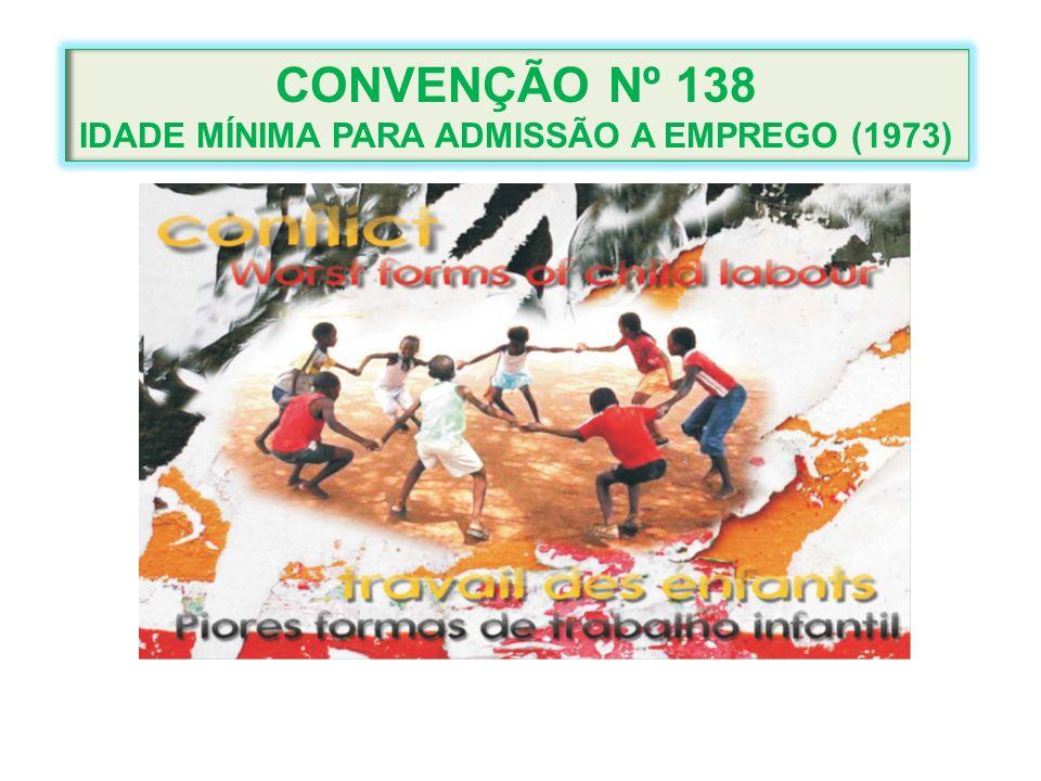 IDADE MÍNIMA PARA ADMISSÃO A EMPREGO (1973)