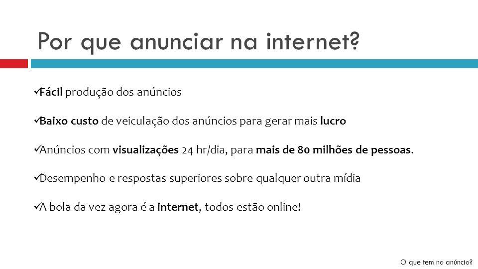 Por que anunciar na internet